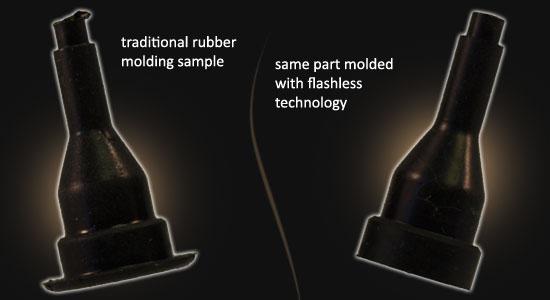 Traditional vs Flashless Molding comparison